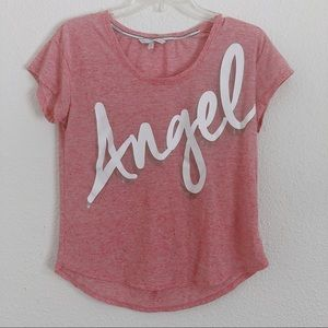 Victoria's Secret Pink Angel Short Sleeve Shirt